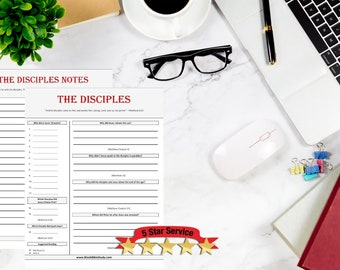 The Disciples | Bible Study Worksheets | Bible Study Printable | Bible Study Notes | Bible Study Kids | Bible Study Journal