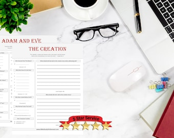 The Genesis Starter Pack | 5 Bible Study Worksheets | SAVE 25%