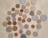 Lot of 40 pcs VINTAGE world antique vintage coins, Big money, Giant Coin, Your Choice, Lucky Penny, Big Coin, old money, penny Quarter dime