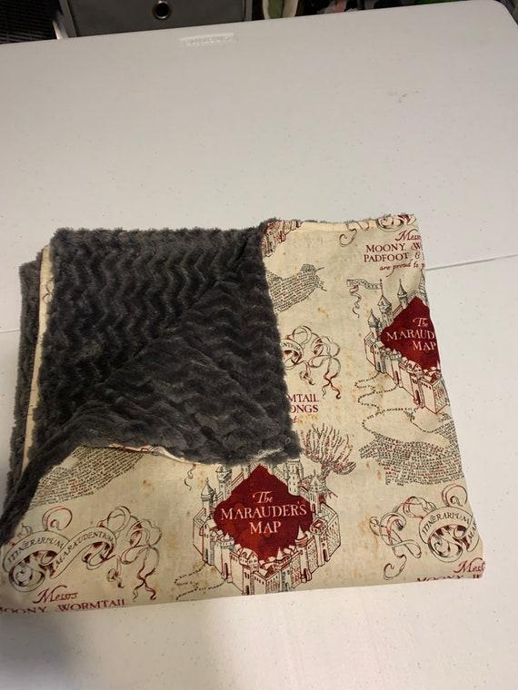 teen gift magic school blanket baby gift Potter blanket marauders map blanket baby blanket marauders map baby blanket cuddle blanket