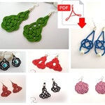 DIY patterns for Celtic knotted earrings, Celtic jewellery making patterns, jewellery tutorials, craft material,