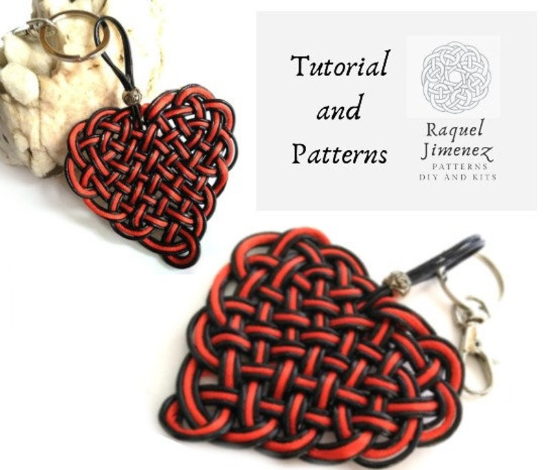Macrame heart patterns and instructions diy heart braided image 0