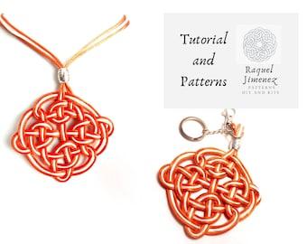 Pattern and instructions for making Celtic mandala, how to make Celtic mandalas for jewelry, mandala weaving tutorial, macrame mandala.