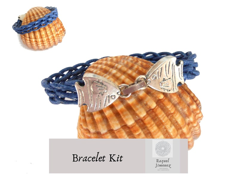 Kit to make a nautical bracelet craft kit diy a  braided image 0