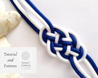 Pattern macrame bracelet sailor knot, how to make nautical knot bracelet, tutorial for summer bracelet, pattern macrame bracelet sailor knot
