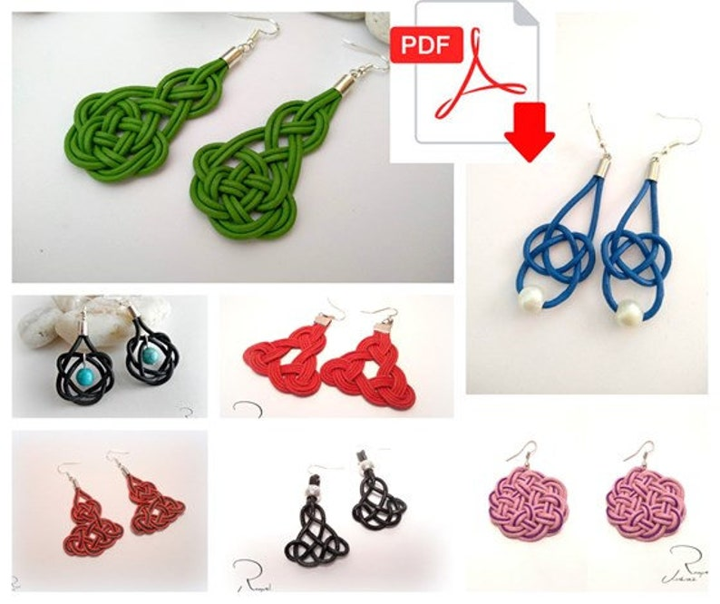 DIY patterns for Celtic knotted earrings Celtic jewellery image 0