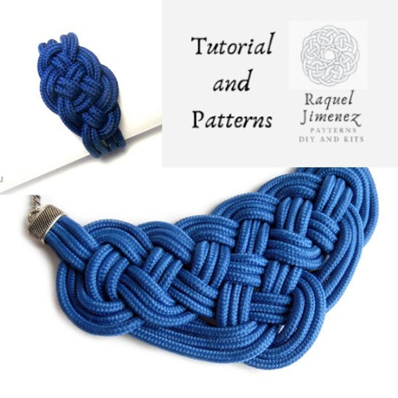 Macrame patterns and tutorial for necklace and bracelet with image 0