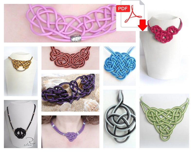 Patterns to make necklaces with Celtic knots ten craft image 0