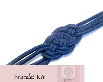 Kit diy to make a bracelet with sailor knot, how to make an infinite knot bracelet, materials diy for paracord bracelet, jewelry kit.