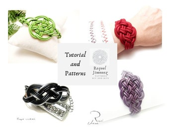 Tutorials and patterns to make four knot bracelets, diy patterns for macramé, tutorials and templates for Celtic and sailor knots.