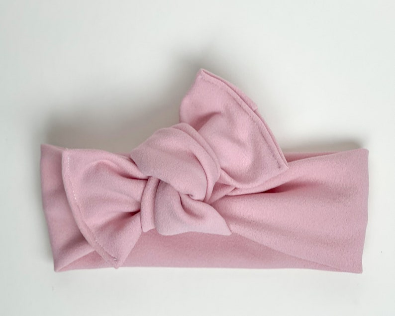 Soft pink crepe Headwrap