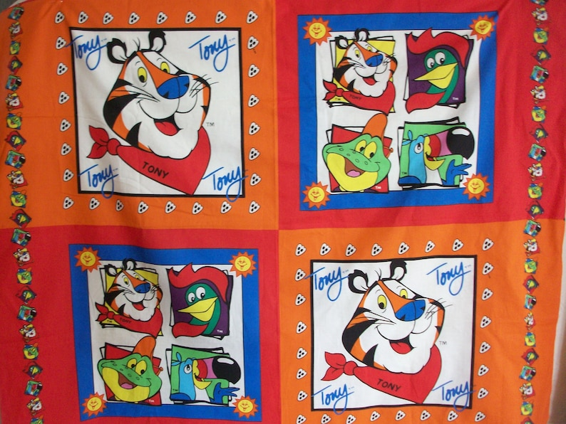 Springs Industries Kellogg's Tony The Tiger Sewing Panel image 0