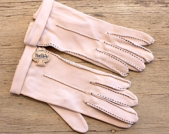 """Vintage """"Valisere"""" French Deadstock White Gloves, 1950s  Gloves, Bridal Gloves, NOS"""