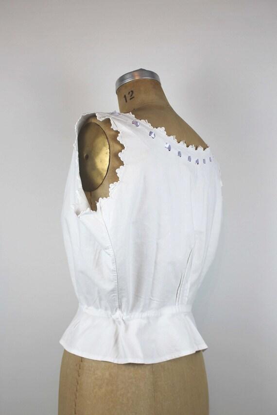 Antique Corset Cover, Edwardian Camisole, Antique… - image 4