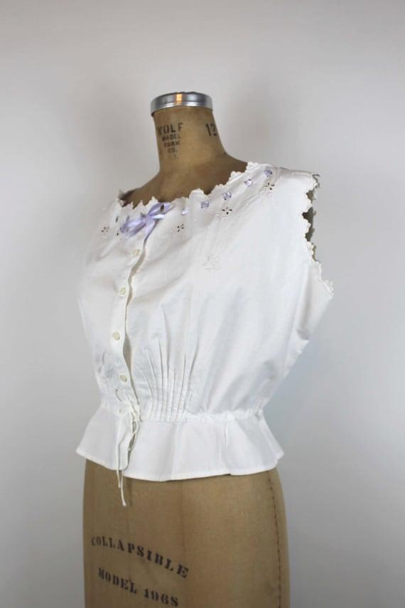 Antique Corset Cover, Edwardian Camisole, Antique… - image 2