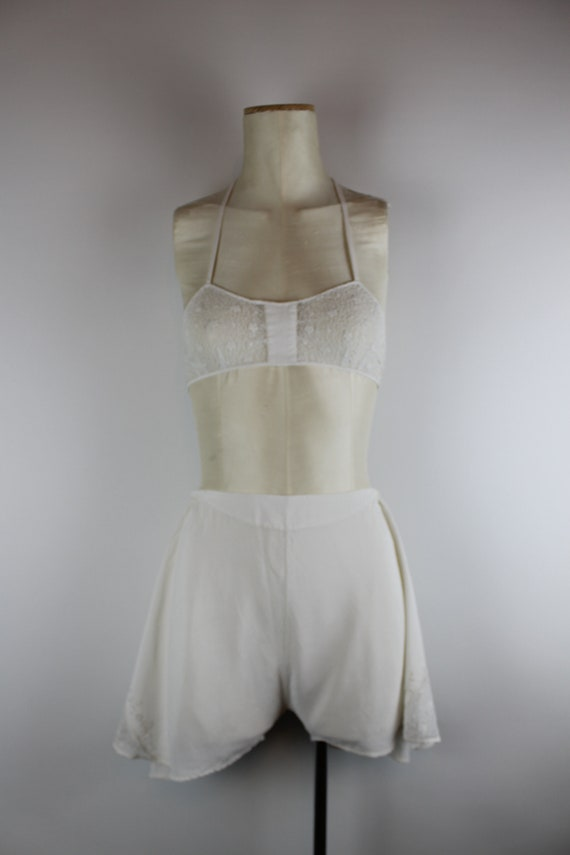 1920s Silk Lingerie Set, Vintage 20s Embroidered B