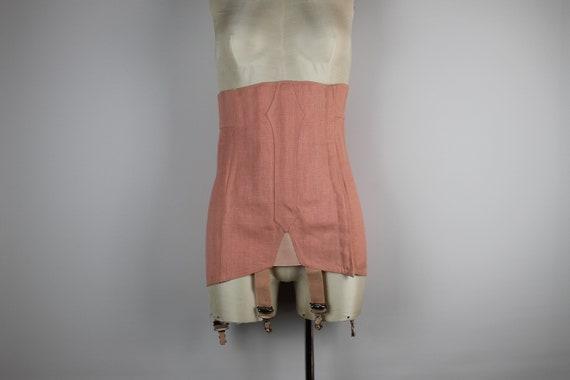 1940s Vintage Pink Girdle, Vintage Garter Belt, Su