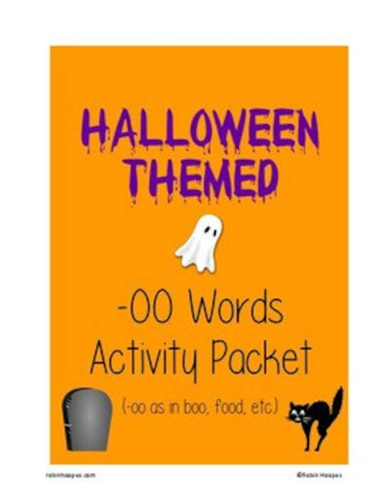 Halloween Themed OO Word Packet PDF image 0