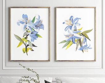 """/""""Picasso Calla Lillies/"""" Impressionist Original Watercolor Floral Painting Print"""