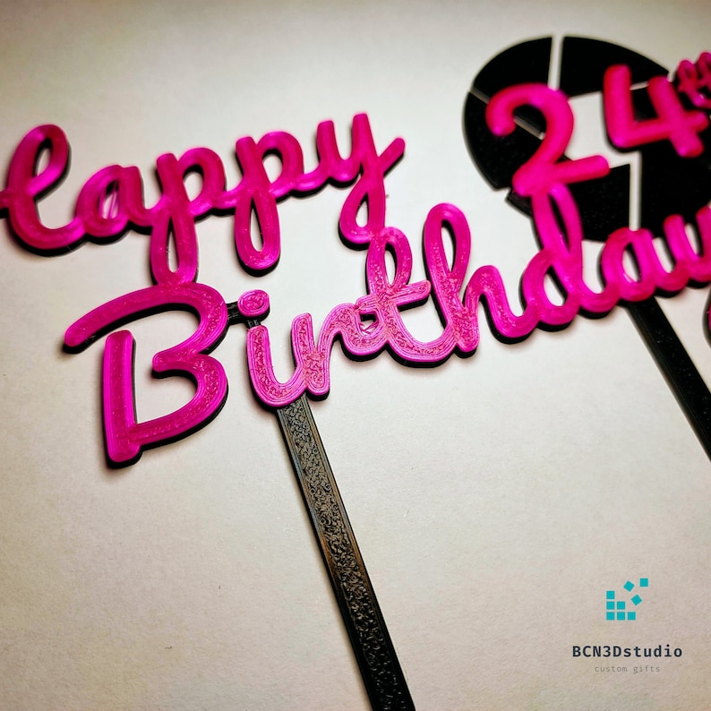 Happy Birthday Photographer Personalized cake topper ornament with any age
