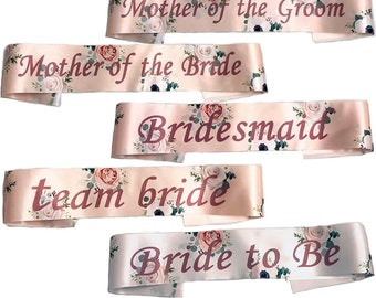 PINK ELEGANT HEN PARTY SASH SASHES GIRLS DO NIGHT OUT ACCESSORIES