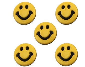 Y59 19mm 30L Gold Smile Happy Smiley Face Novelty Lightweight Shank Buttons