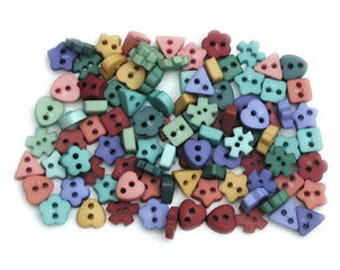 Micro Mini Round Lavender ~ Tiny Shapes ~ Dress It Up Embellishment Buttons ~ Jesse James Novelty Buttons Theme Pack
