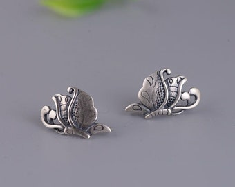 925 Sterling Silver Female style love rabbit vintage silver earrings by IELTS Jewellery