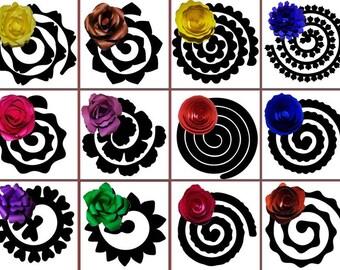 Rolled Flower Svg Etsy