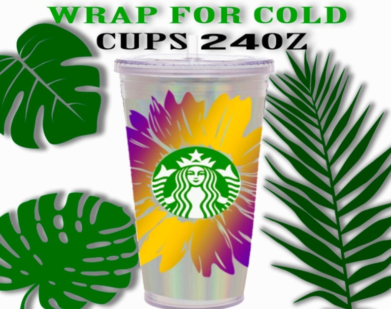 Download Sunflower Starbucks Cup decal starbucks wrap svg Svg DIY ...