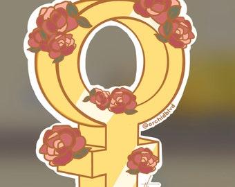 Flowered Female Icon [Feminist]