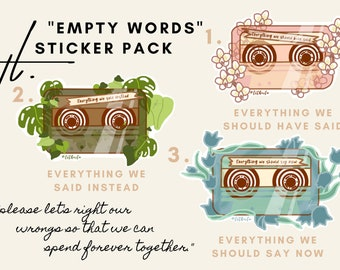 Empty Words Tapes [Sticker Pack]