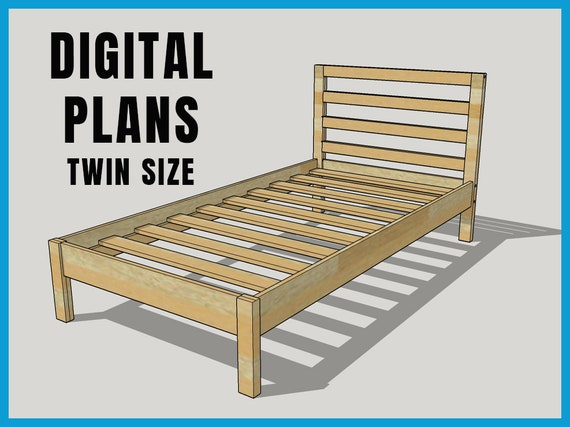 Twin Bed Frame Plans, How To Make A Basic Twin Bed Frame