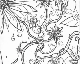 Flower Coloring Pages for Adults – coloring.rocks! | 270x340