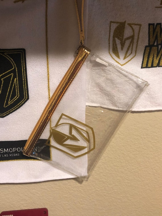 VGK Clear Arena compliant wristlet / pouch - Vegas Knights - GOLD