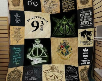 Harry Potter Always Keep Calm And Turn To Page 394 Fleece Blanket 50x60x80