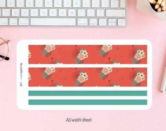 Halloween washi sheet -A5 planner/ notebook