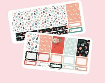 Halloween weekly planner sticker kit A5 planner