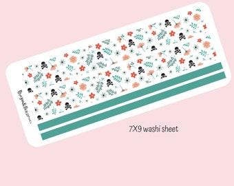Halloween washi sheet -7X9 planner/ notebook