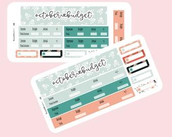 Halloween budget planner sticker sheet- A5 planner