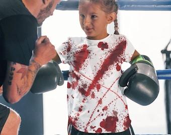 Blood Splatter T-shirt Kids Bloody T-Shirt Halloween Kids Shirt All Over Tee Creepy Kids T-shirt Horror Lover Kids Gothic Creepy Crime