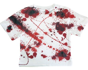 Halloween Kids T-Shirt Bloody Toddler Shirt DOUBLE sided All Over Print Size 2T Blood Splatter T-Shirt Blood Spatter Baby Shirt