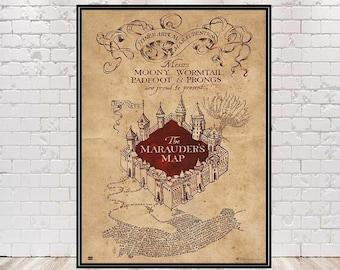Marauders map poster   Etsy
