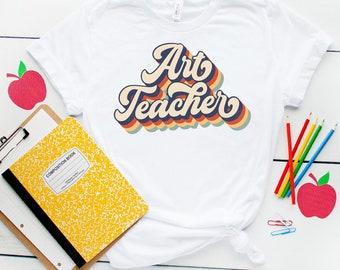 Retro Vintage Art Teacher Shirt, Art Teacher T-shirt, Art Teacher Gifts, Art Teacher Back To School Shirt, Happy First Day Of School Shirt