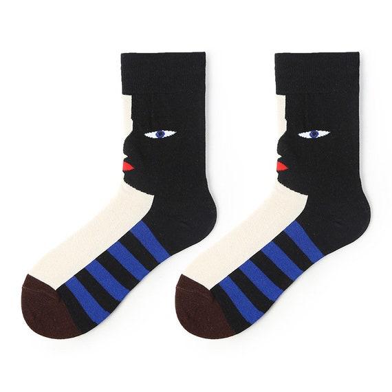 Gift Ideas colourful socks unisex socks funky socks,unique patterns Abstract Ikon Original Esigned novelty socks cool socks