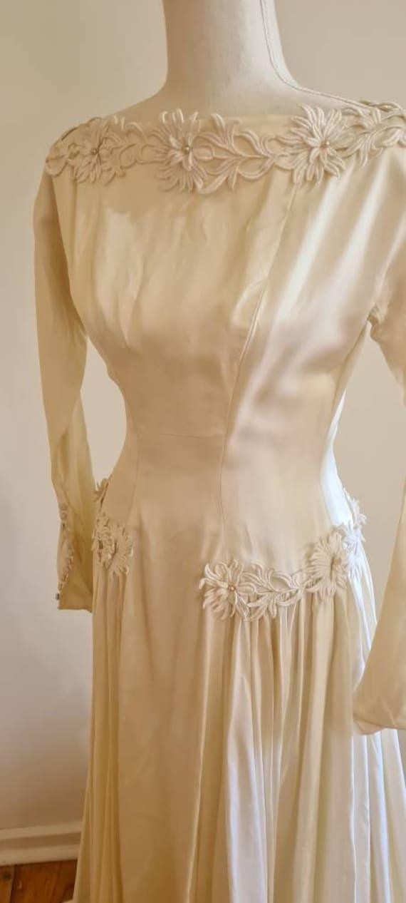 1950s vintage wedding gown wedding dress 'Madeline