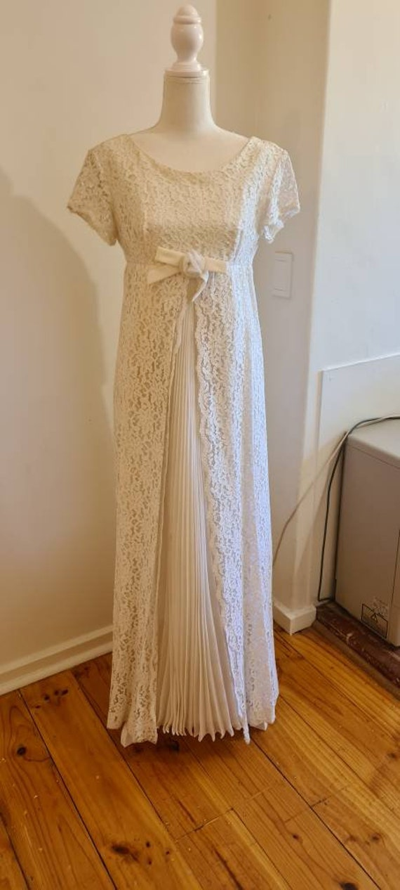 1960s vintage wedding gown wedding dress 'Lucy'