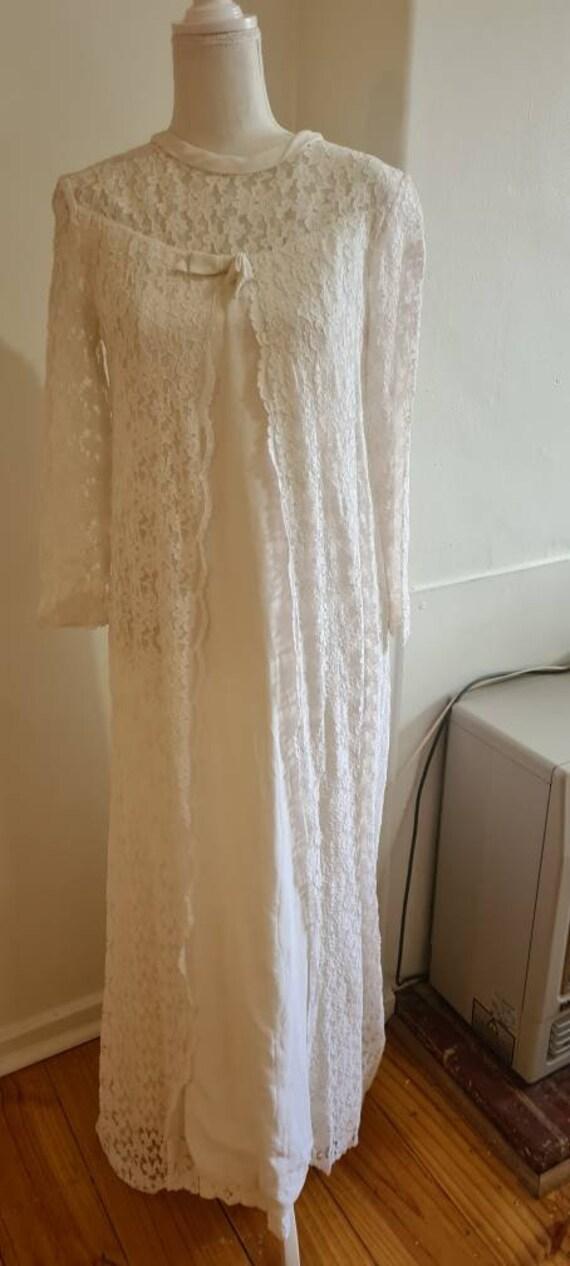 1960s vintage wedding dress wedding gown 'Polly'