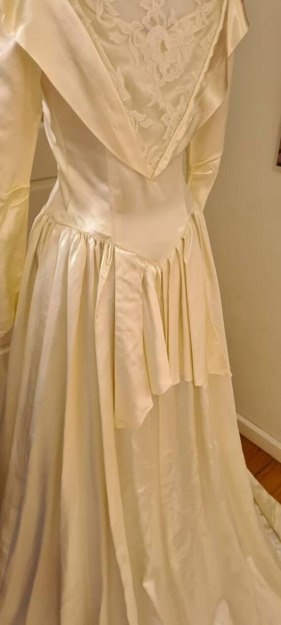 Vintage 1940s wedding gown wedding dress 'Beatrice