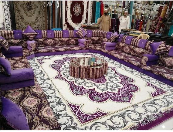 bohemian design eclectic design arabic floor seating arabic jalsa oriental jalsa set red white arabic majlis oriental interior design